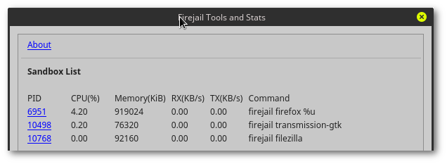 firetools-processes