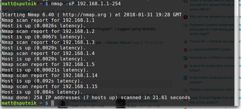 Scan a network using nmap » Cyberfella Ltd