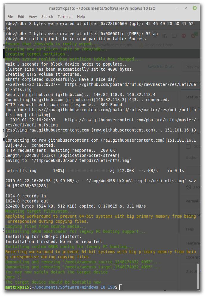 Create Windows 10 bootable USB on Linux » Cyberfella Ltd